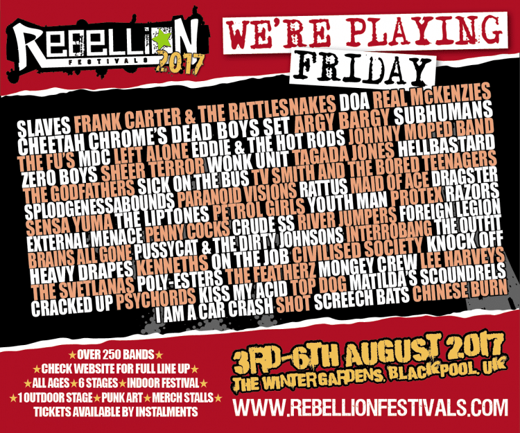 Rebellion 2017 Friday