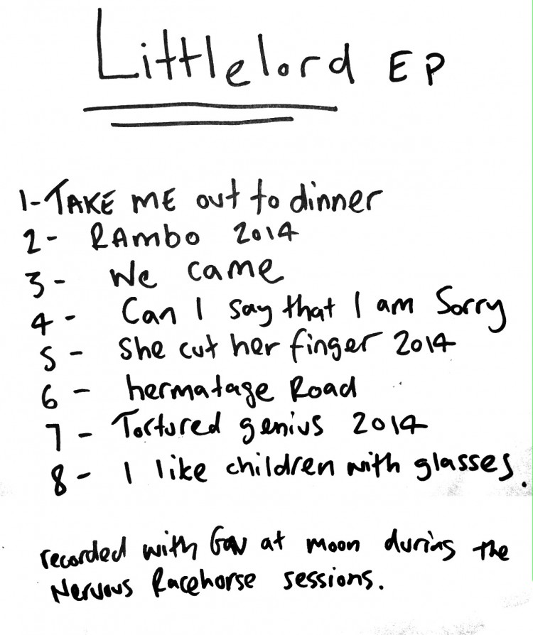 Wonk Unit - Littlelord EP - Littlelord EP BACK COVER