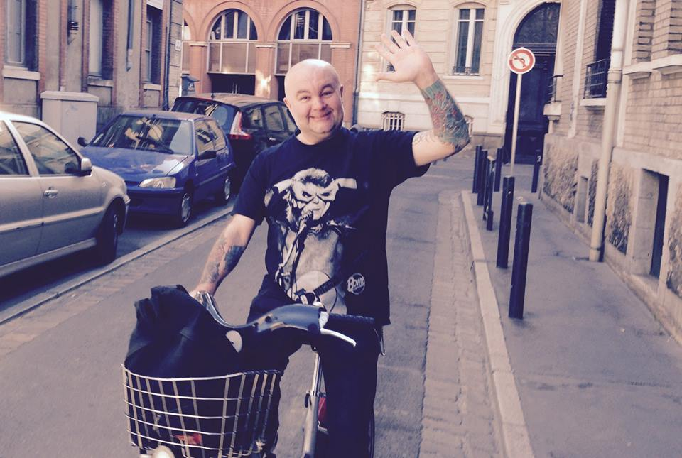 Mark on a bike in France
