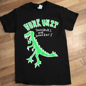 dinosaurs are wankers t-shirt