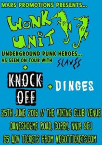 wonk in corby with dinges