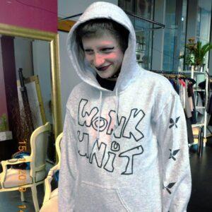 wonk grey hoodie