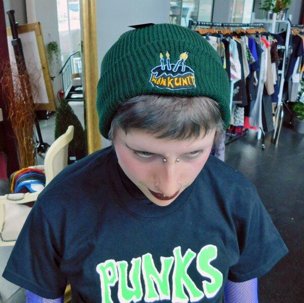 Green Wonk Unit Beanie