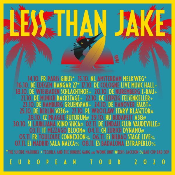 Wonk Unit Germany tour with less than jake 2020